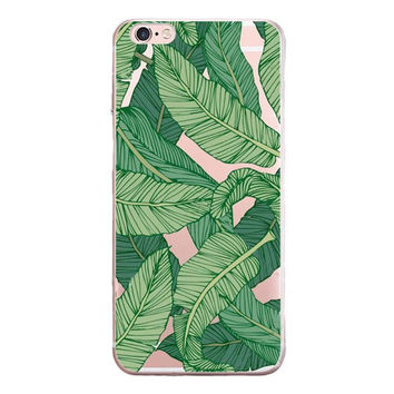 Newest Banana Leaf Case Customized Cover for iPhone 7 7 Plus & iPhone 5s se & iPhone 6 6s Plus + Gift Box-462