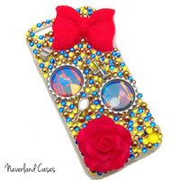Custom Beauty and the Beast Bling Phone Case Princess Belle Case Cover Rhinestone Phone Case iPhone 6 5 5S -- PREORDER