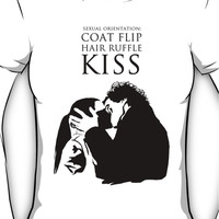 Sherlock and Molly Kiss Women's T-Shirt