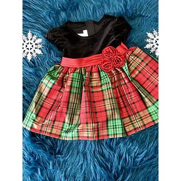 2018 Christmas Velvet Plaid Hope Dress
