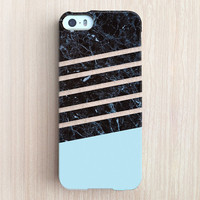 iPhone 6 Case, iPhone 6 Plus Case, iPhone 5S Case, iPhone 5 Case, iPhone 5C Case, iPhone 4S Case, iPhone 4 Case - Marble Dip Light Blue