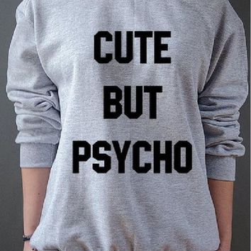 LMFIH3 New womens letter sweater CUTE BUT PSYCHO