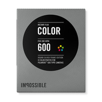 Impossible Project Color  Film for Polaroid 600 Type Cameras Round Silver  Frame Impossible Instant Lab