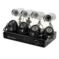 "8 Channel DVR System ""Secure Vision"" - 4 Indoor + 4 Outdoor Cameras, 700TVL, 1TB HDD, H.264"