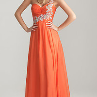 Night Moves One Shoulder Prom Gown