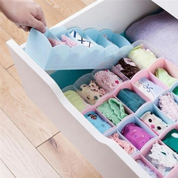 Durable and Multi functional Storage Box Plastic Underwear Bras Sock Ties Organizer