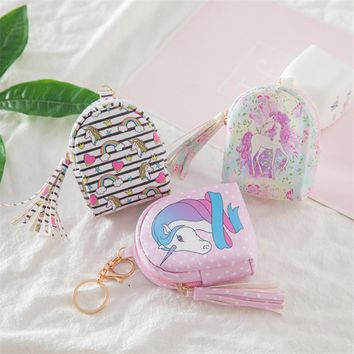 Hot 1pc Unicorn Coin Purses Wedding Gifts for Guests Unicorn Party Mini Bag Birthday Kid Gifts Baby Shower Hen Party Favors-S