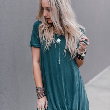 Twist Front Tunic Top -Teal
