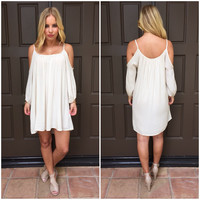 Cream Summer Breeze Off Shoulder Dress