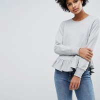Vero Moda Frill Hem Sweater Top at asos.com
