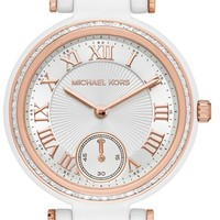 Women's MICHAEL Michael Kors 'Mini Skylar' Bracelet Watch, 33mm - White/ Rose Gold