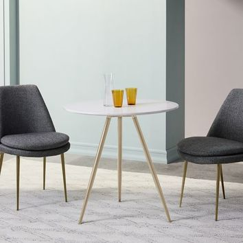 Wren Bistro Table - White Quartz