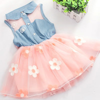 2 - 5 Years Girls Party Princess Summer Flower Dress