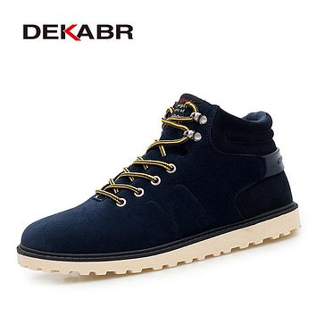 New Arrival Lace-Up Men Fashion Boots Wear Resistant Handmade Ankle Boots Working Boots Men Casual Shoes