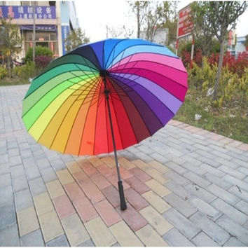 Design Strong Character Stylish Korean King Size Straight Rod Umbrella [6283845574]