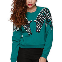 LA Hearts Shrunken Animal Crew Fleece at PacSun.com