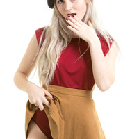 Not-Quite-Vintage Red Hot Mama High Cut Bodysuit - S/M/L