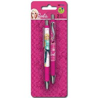 Barbie Pink Gel Pen Pens 2 Pack Set School Writing Gift Official Licensed NEW