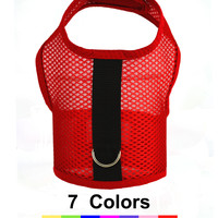 Air Mesh Dog Vest Harnesses, in 7 Colors