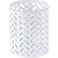 Staples® White Zigzag Pencil Cup (26847) | Staples®