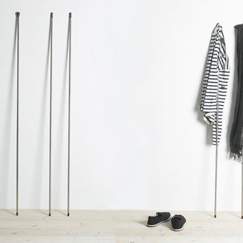 Modern clothes rack, original minimalist design, suitable for any room in the house. Handmade Eco Industrial Design