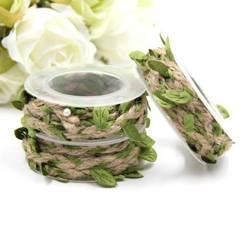 Artificial Twine String Leaves Home Garden Decoration