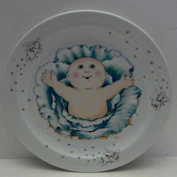 Cabbage Patch Baby Collectible Plate by Royal Worcester Made in England Bunny Edge