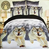 Medusa 3d wolf bedding set