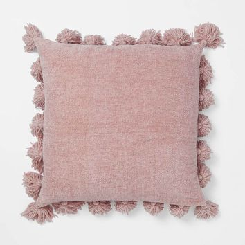 Chenille Knit Tassel Pillow
