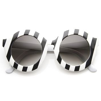 Trendy Womens Fashion Oversize Round Circle Sunglasses 9131