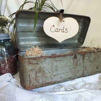 Wedding Card Box Vintage Fishing Tackle Box by ButterBeanVintage