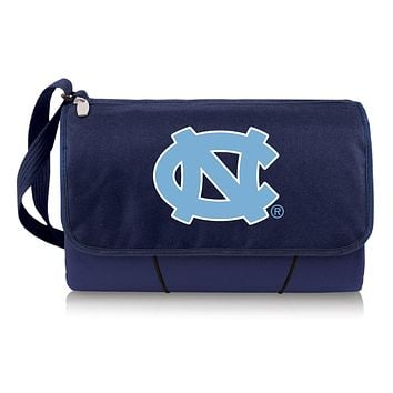 North Carolina Tar Heels 'Blanket Tote' Outdoor Picnic Blanket-Navy Digital Print