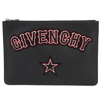 Givenchy Large Gothic Logo Black Pouch