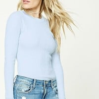 Contemporary Ribbed Knit Top