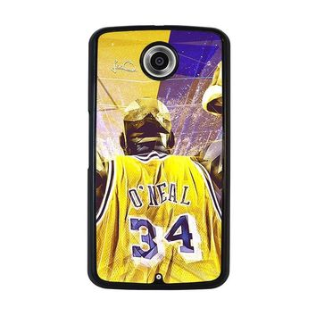 SHAQUILLE O'NEAL LA LAKERS Nexus 6 Case Cover