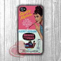 Audrey Hepburn Breakfast At Tiffany's Case -3ind for iPhone 4/4S/5/5S/5C/6/ 6+,samsung S3/S4/S5,samsung note 3/4
