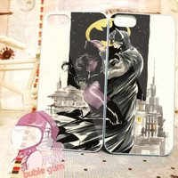 Batman and cat woman kiss couple iPhone Case And Samsung Galaxy Case