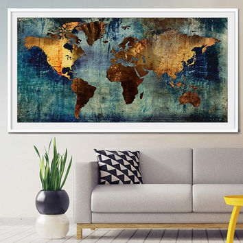 Abstract World Map, Abstract Art, Art Print, World Map Art, Large World Map, Abstract Art Print, Abstract World Map, Abstract Painting-x308