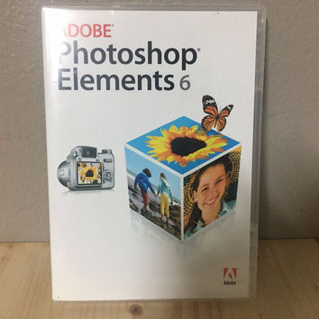 Adobe Photoshop Elements 6 for Mac w/ serial number NEAR MINT