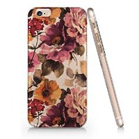 Vintage Floral Slim Pattern Iphone 6 Plus Case, Clear Iphone 6 Plus Hard Cover Case (For Apple Iphone 6 plus 5.5 Inch Screen)-Emerishop (B255)