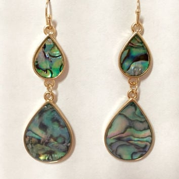 If By Sea Abalone Earrings