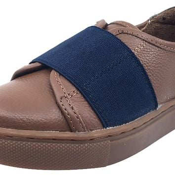 Venettini Boy's Dark Tan Zane Slip-On Sneaker