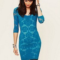Free People Clothing Boutique > 3/4 Seamless Medallion Bodycon Dress