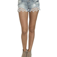 Festival Crochet Fray Short | Shop Junior Clothing at Wet Seal