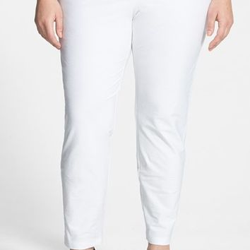 Plus Size Women's Eileen Fisher Crepe Ankle Pants,
