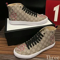 Gucci Man or Woman Fashion Multicolor Pattern Strappy Casual Shoes