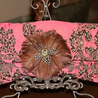 One of a kind fabric clutches, made in the USA by Rock N' Couture
