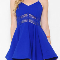 Kiki Flared Dress - Royal Blue