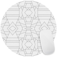 Geo White Mouse Pad Decal