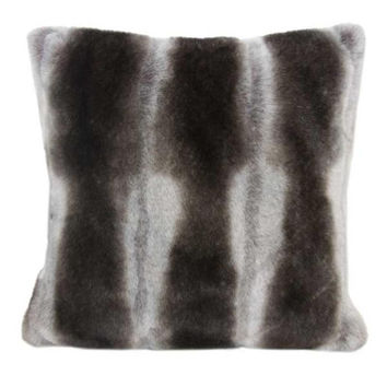 faux fur pillow chinchilla